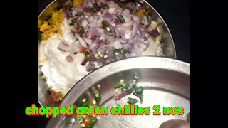 image of adding chopped green chilies