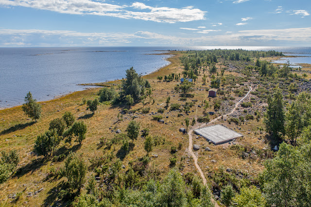 Tornista otettu kuva Selkä-Sarven saaren eteläpäädystä