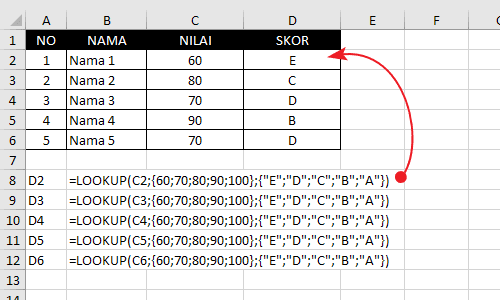 Contoh Fungsi-Rumus Lookup Excel 4