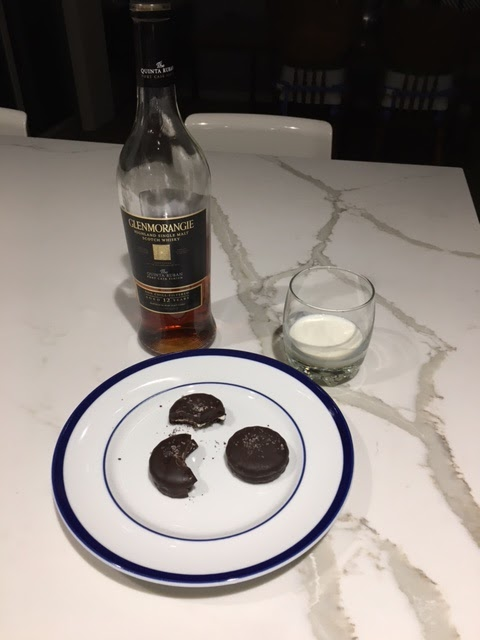 cookies, milk and scotch for Santa
