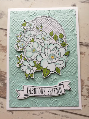 Lovely Lattice card and Lace embossing with Jemini Crafts using Stampin' Up! products