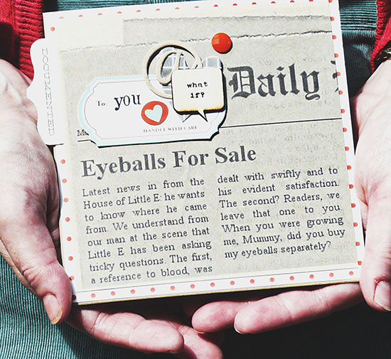 This app generates your own newspaper clippings