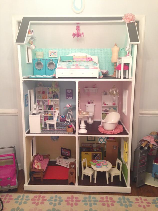 bd4a361d099 I found this picture under the brag posts from Ana White's website. Isn't  this adorable? Someone took a tremendous amount of time in making this  dollhouse ...