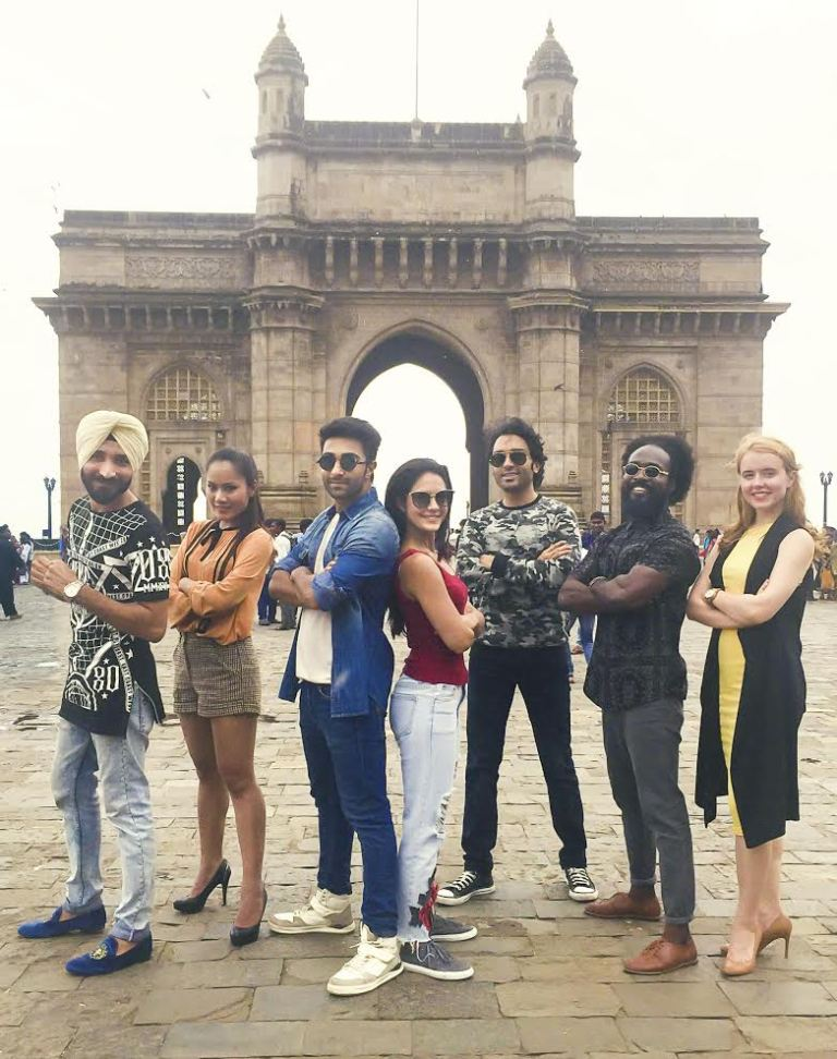 Qaidi Band Actors Posing for a Special Photograph at Gateway of India