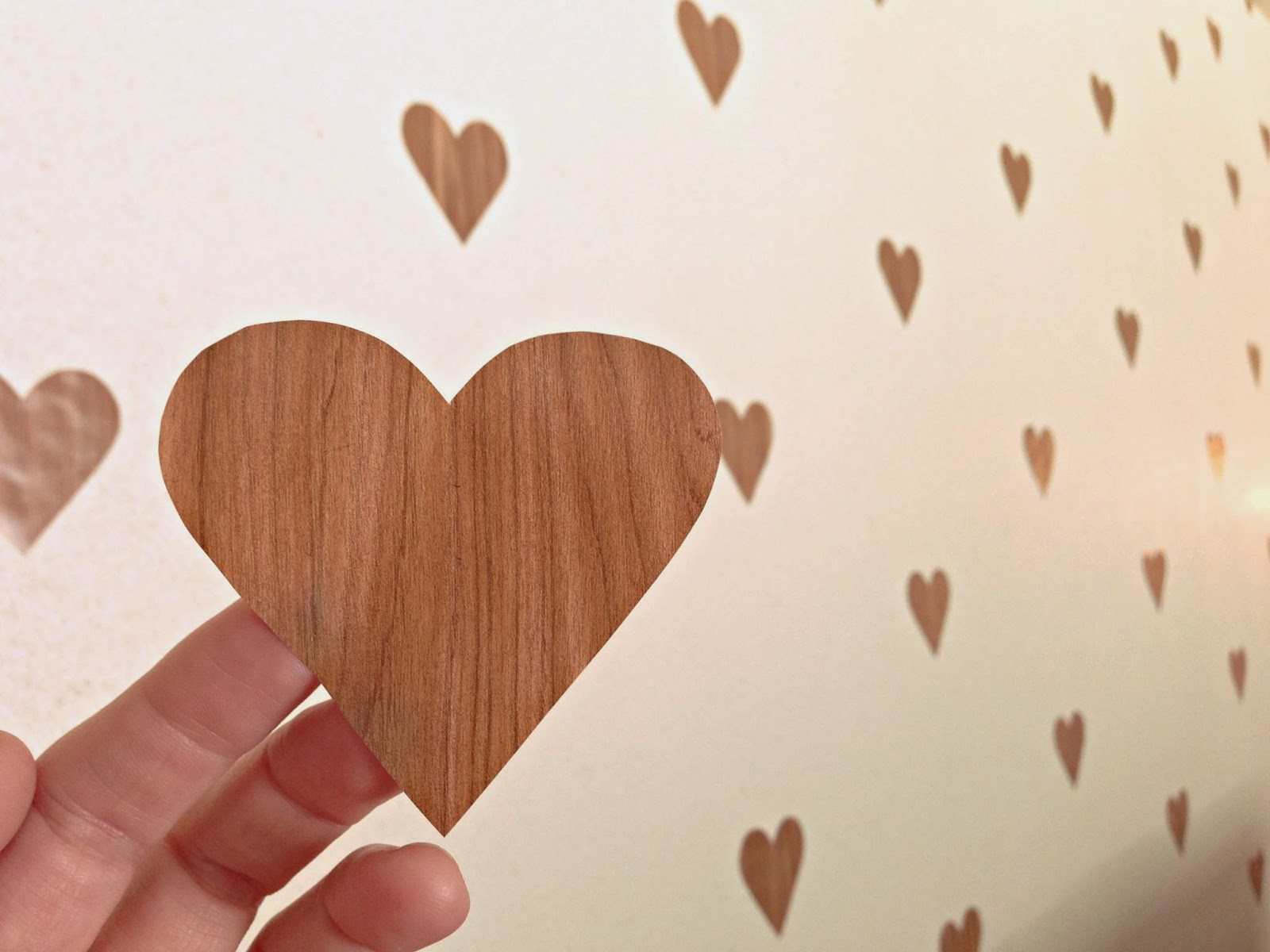 Roximately 125 Hearts An Aching Thumb Later I Was Done Didn T Measure Where The Would Go Just Eyeballed It And S Not Perfect