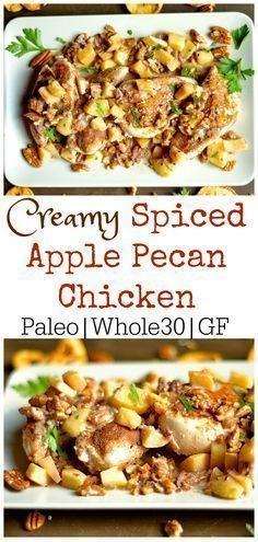 Creamy Spiced Apple Pecan Chicken