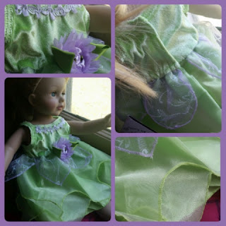 tinkerbell dress collage