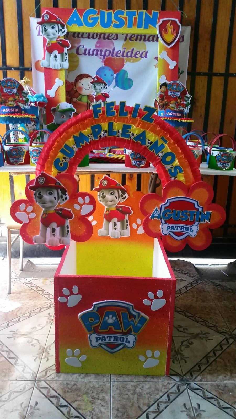 Decoraciones infantiles patrulla de cachorros for Decoraciones infantiles