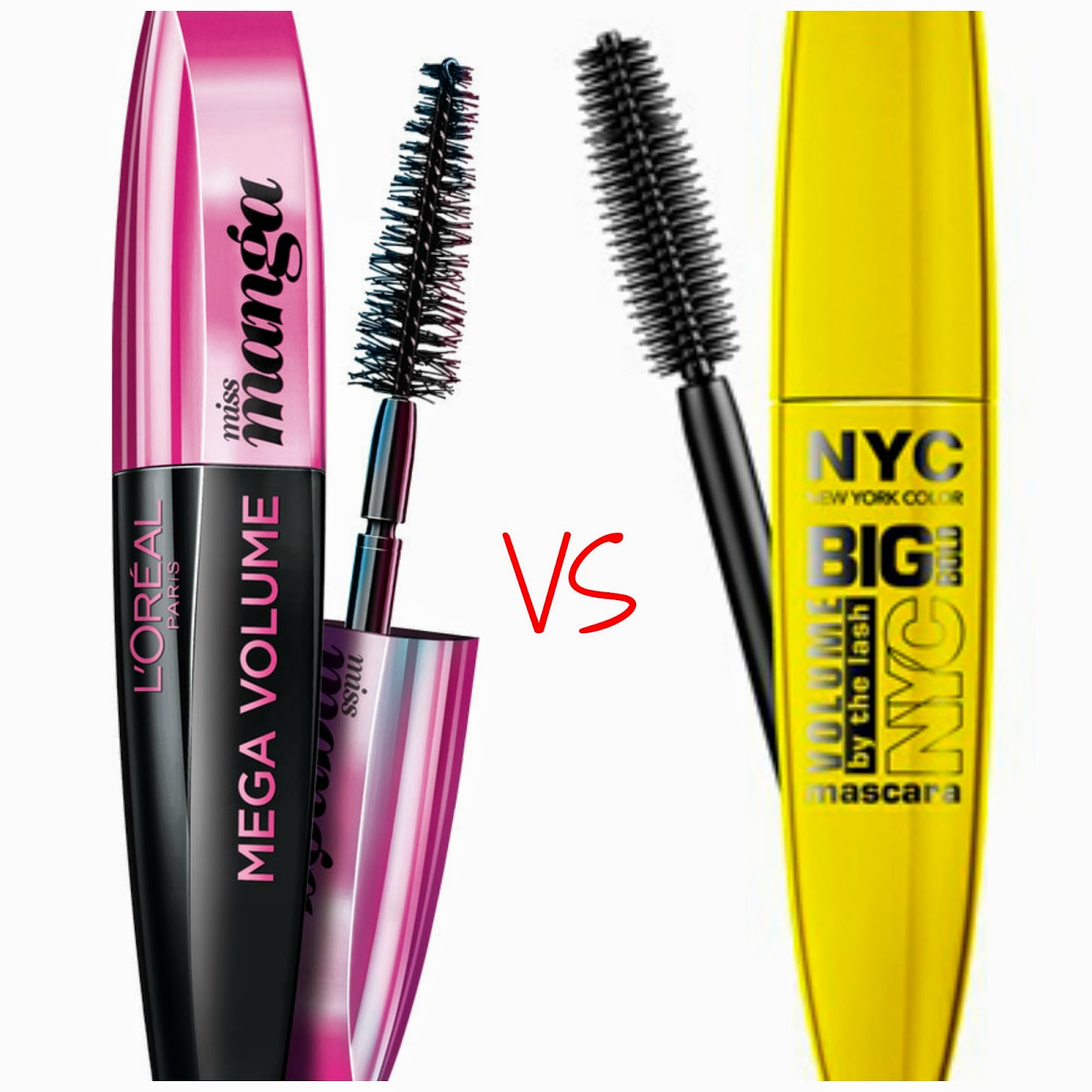 c7e8fcba557 Recently I purchased New York Color (NYC) BIG BOLD LASH and L'Oréal MISS  MANGA at my local Walgreens. I noticed the New York Color mascara ...