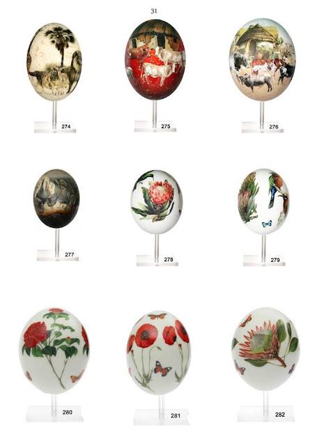 Ostrich Eggs Decoupage