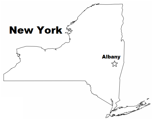 Geography Blog: New York State Map Coloring Page