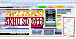 aplikasi skhu sd tahun pelajaran 2017/2018