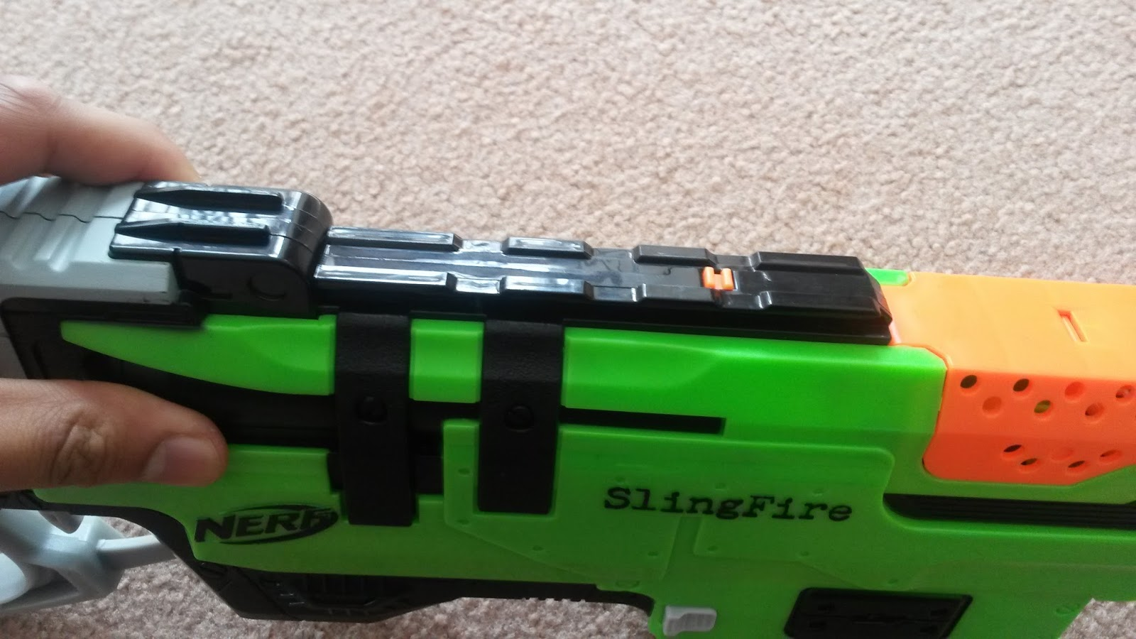 What Time Does Outback Open >> Outback Nerf: Review: Nerf Zombie Strike Slingfire (Aus grey trigger, black breech)