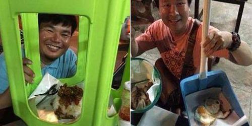 Warung Nasi Unik Tanpa Piring, Lihat Cara Pengunjung Makan Bikin Ngakak
