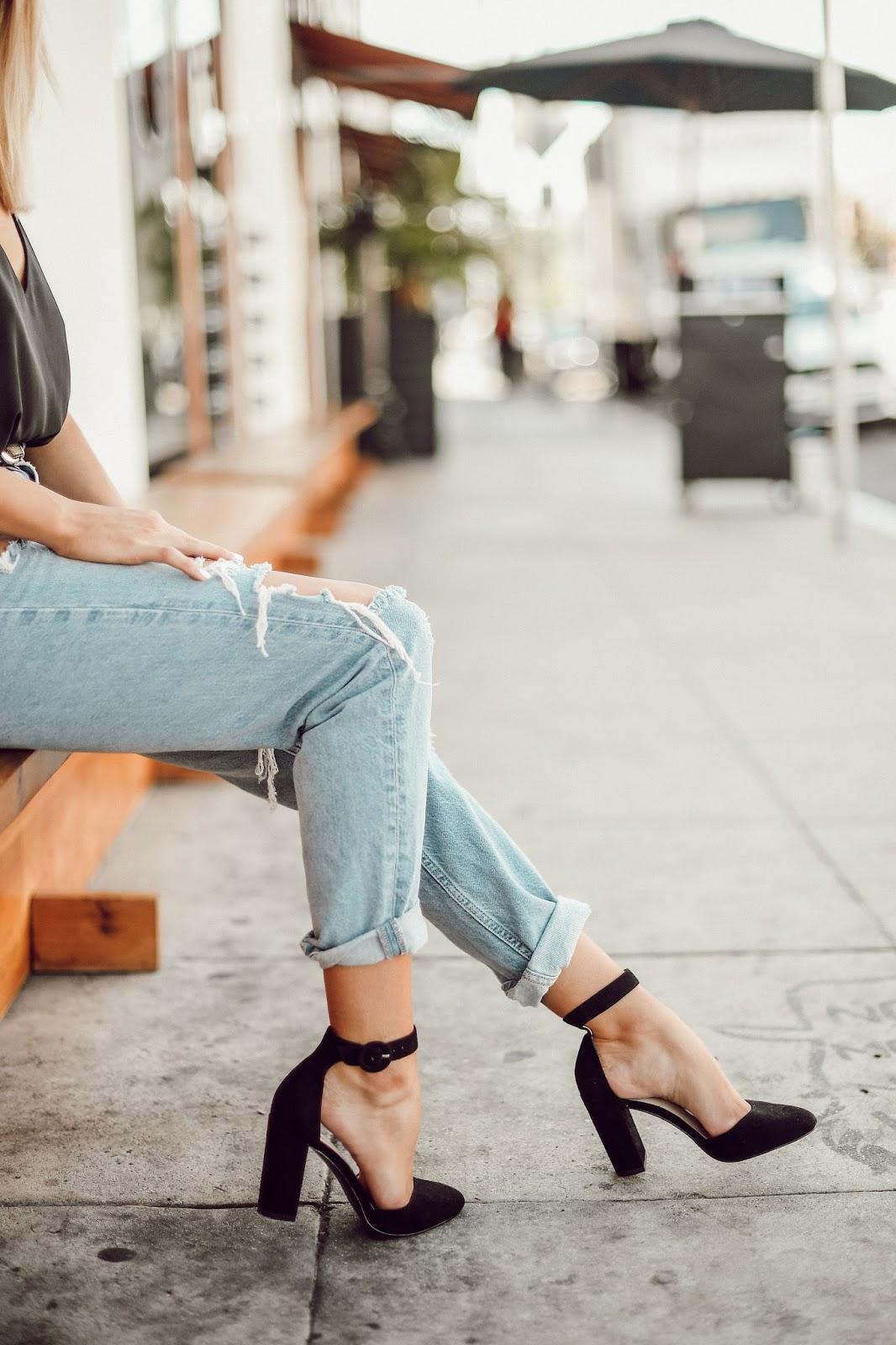 Pelle Moda Fritz Heels - Black - @taylorwinkelmeyer