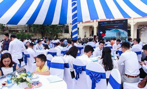 Một góc sự kiện tại sân khách sạn Cầu Am- Hà Đông