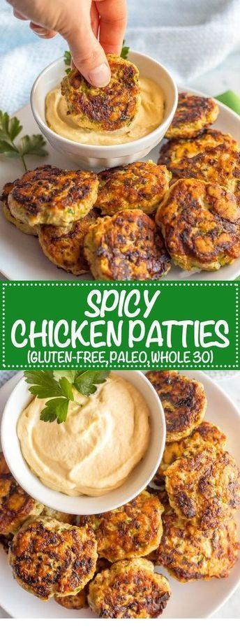 Spicy chicken patties
