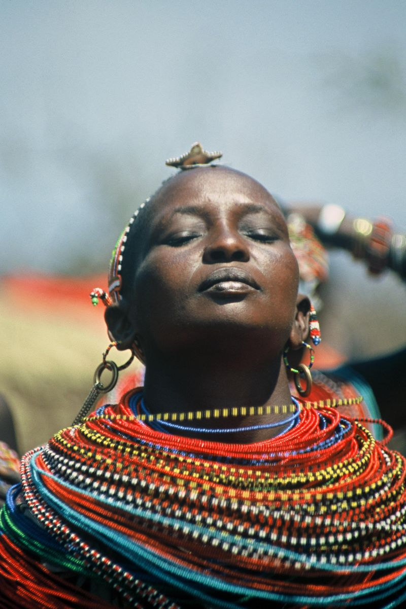 Praying Masai Woman