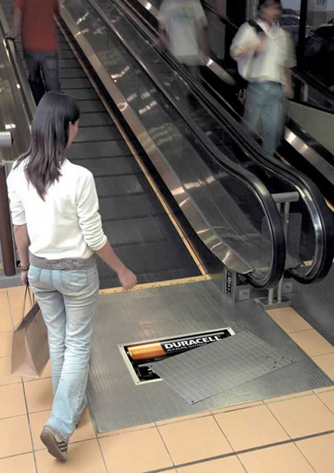 duracell escalator ad