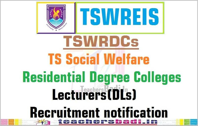 Tswreis,Degree Colleges Lecturers,recruitment,TSWRDCs-application form