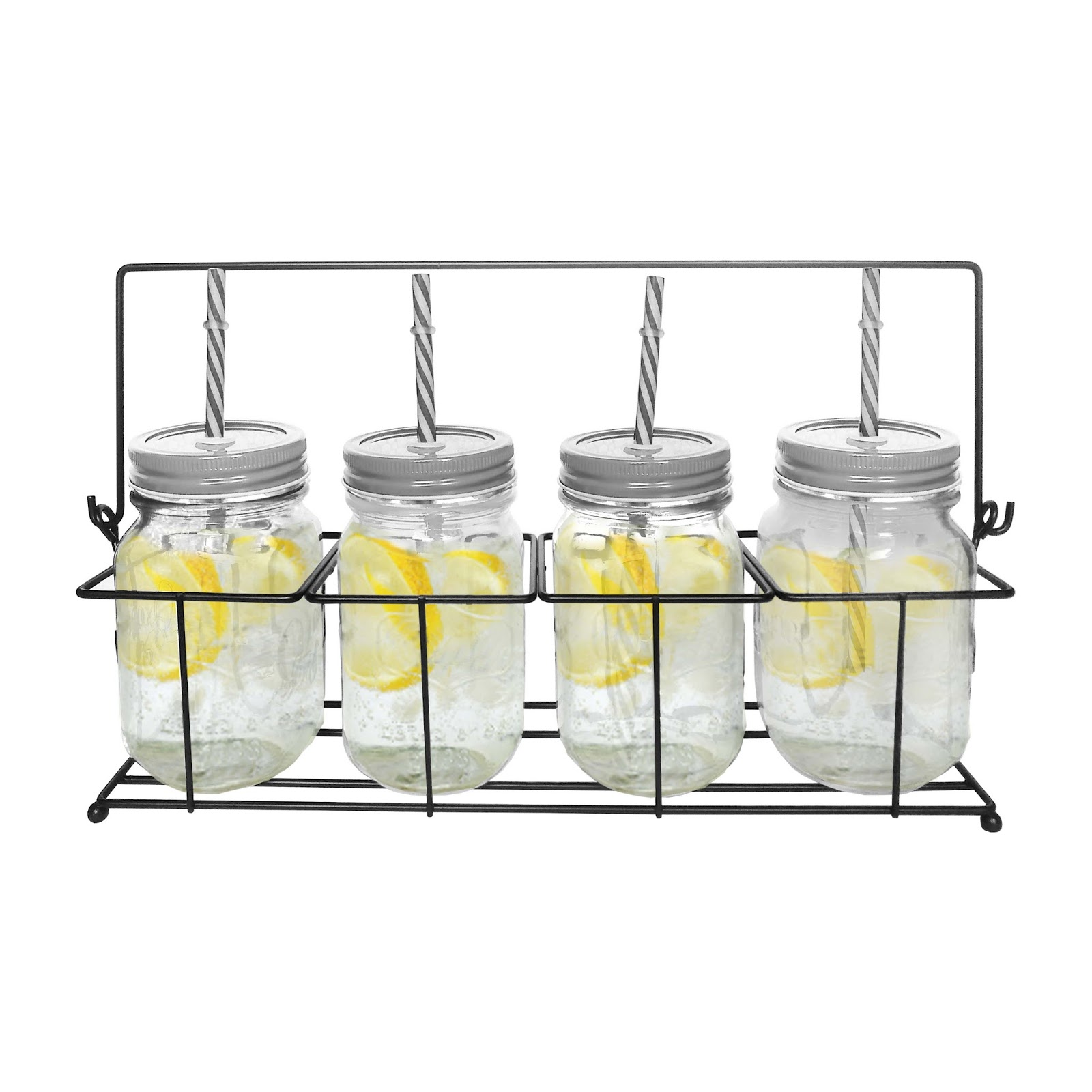 OX-020 4Pcs Classic Mason Mug Oxone with Rack