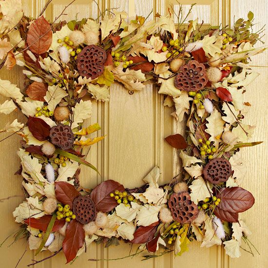 Autumn Wreath Square Wreath Ideas