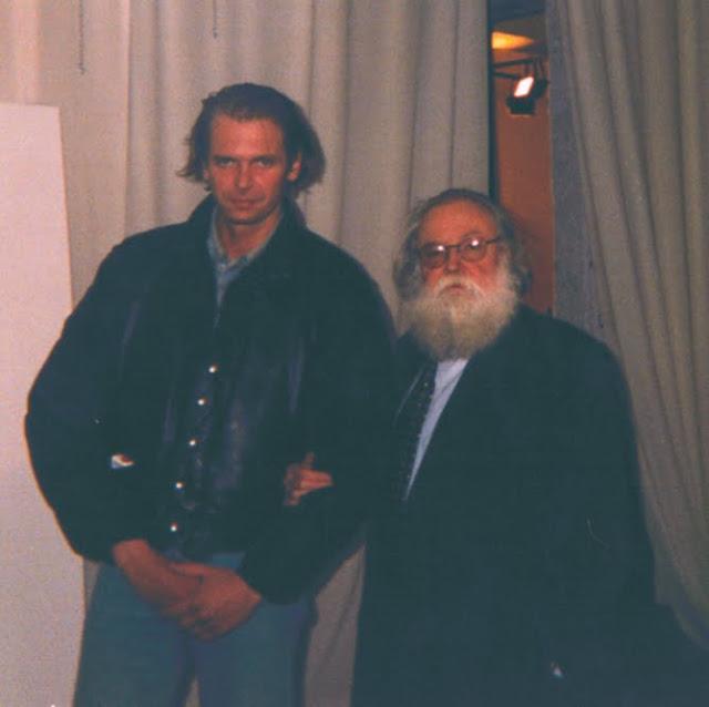 Klaus Guingand  &  Pierre Restany. Guingand studio -1994 © Muriel Bonel