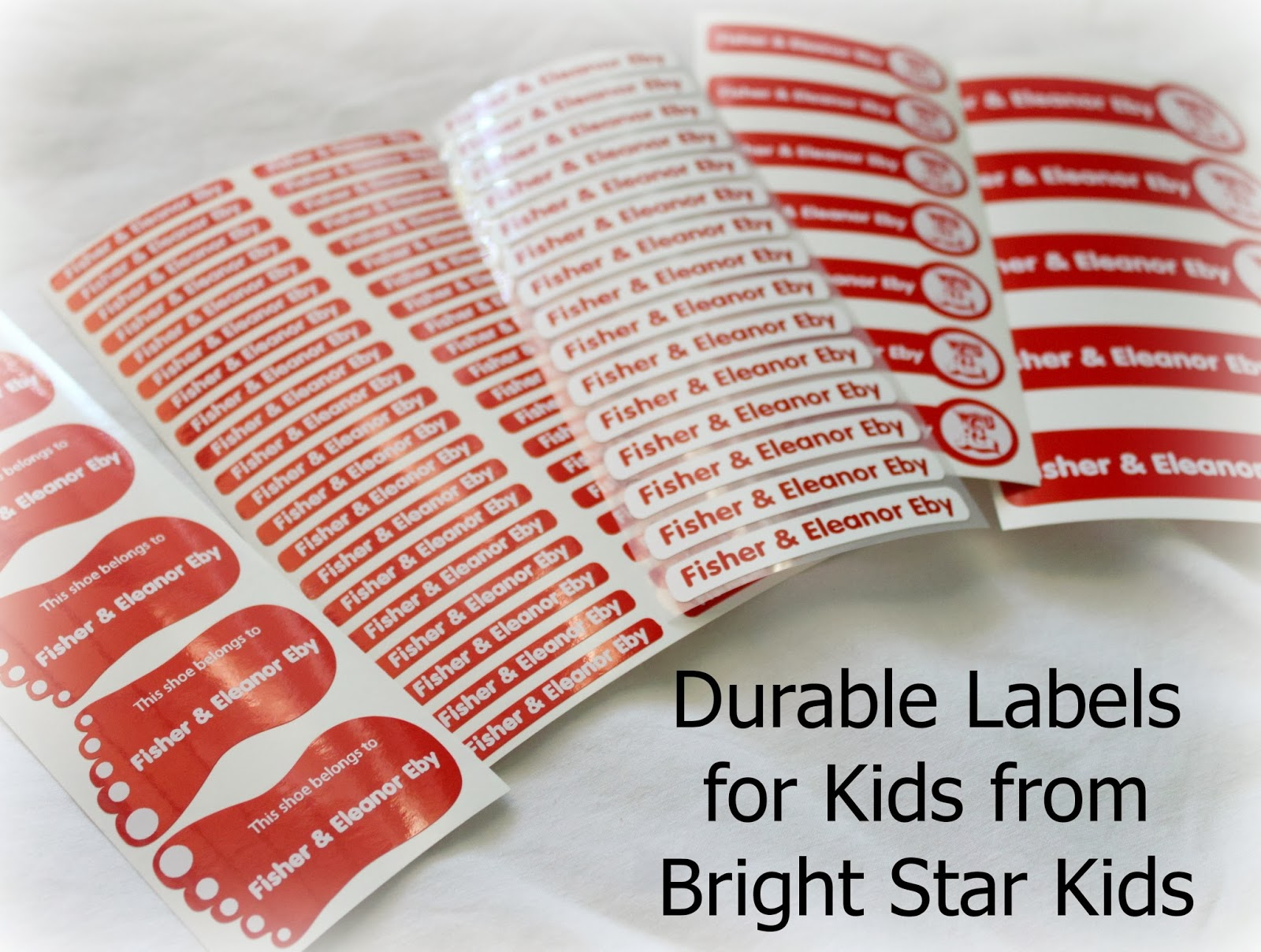 Fun and Durable Name Labels for Kids: Bright Star Kids