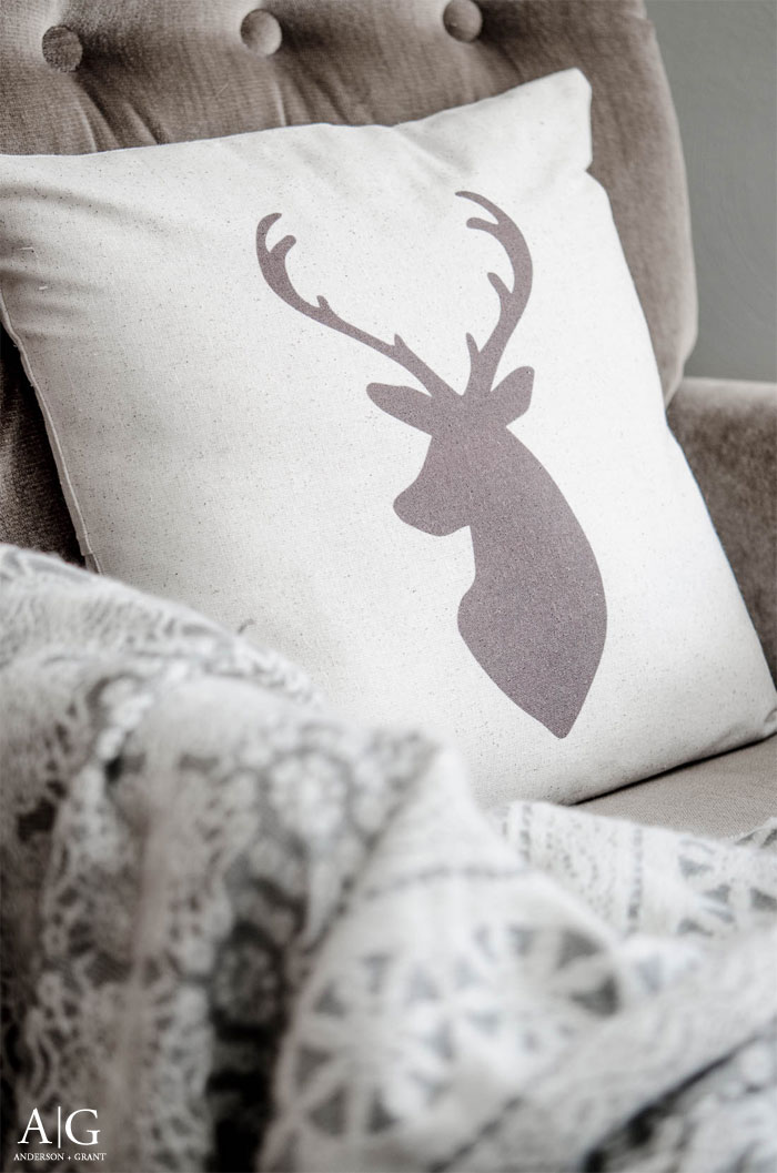 Handmade deer pillow created by Parris Chic Boutique