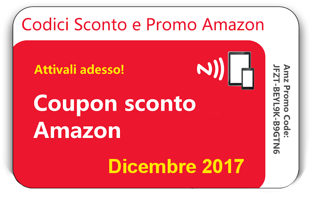 Coupon e sconti Amazon Dicembre 2017 #ScontiAmazon
