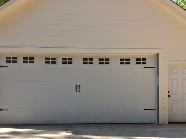 project curb appeal: garage door before and after