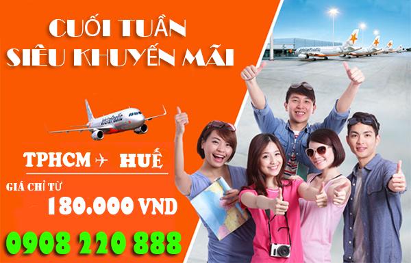 Jetstar khuyến mãi TPHCM đi Huế 180.000 đồng