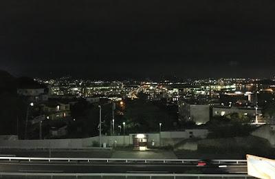 皿倉山ケーブルカー駐車場からの夜景