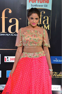 Asmita Sood in Pink skirt at IIFA Utsavam Awards 2017  Day 2  Exclusive