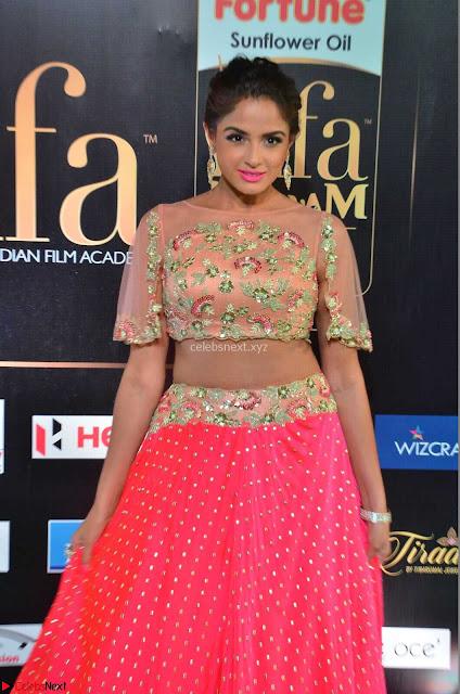 Asmita Sood in Pink skirt at IIFA Utsavam Awards 2017  Day 2  Exclusive 01.JPG