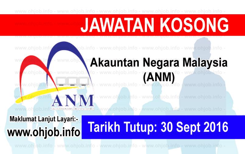 Jawatan Kerja Kosong Akauntan Negara Malaysia (ANM) logo www.ohjob.info september 2016