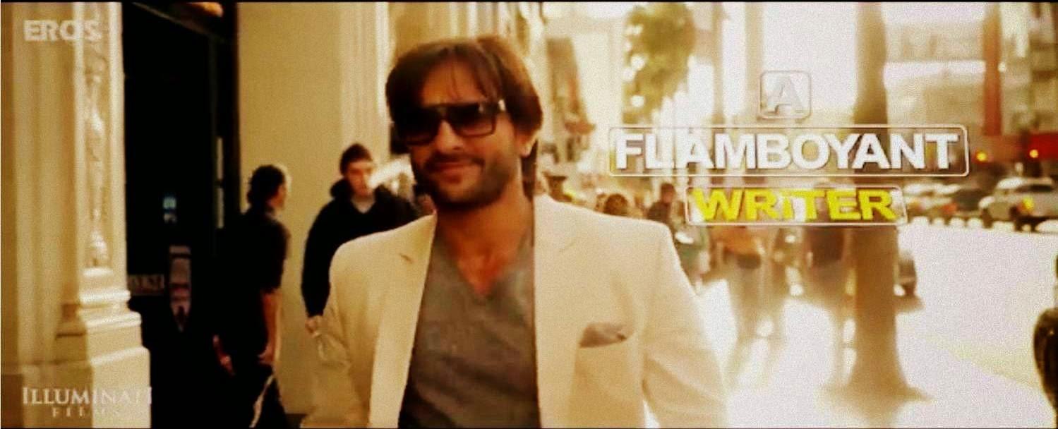 Saif Ali Khan as a flamboyant writer Yudi in Bollywood movie Happy Ending
