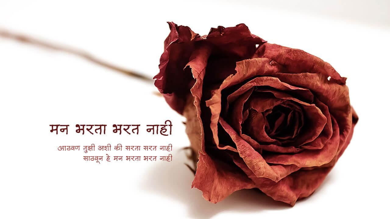 मन भरता भरत नाही - मराठी कविता | Mann Bharata Bharat Nahi - Marathi Kavita