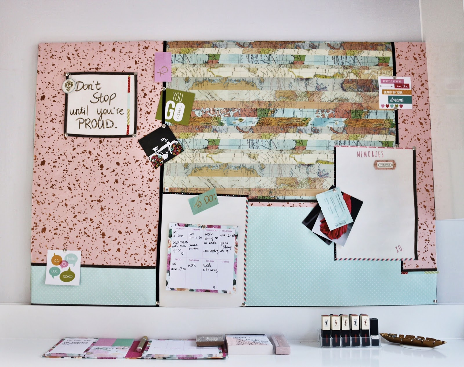 DIY pinboard makeover
