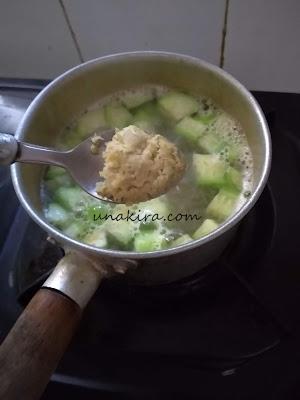 sup oyong tahu udang
