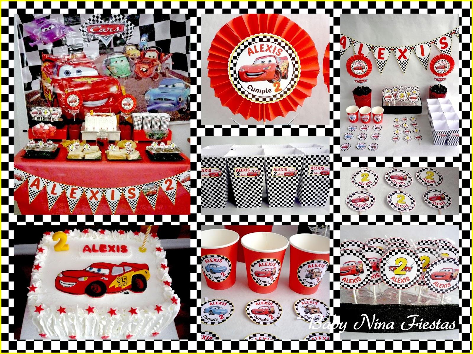 Baby nina fiestas mesa dulce y kit personalizado cars - Decoracion chuches para cumpleanos ...