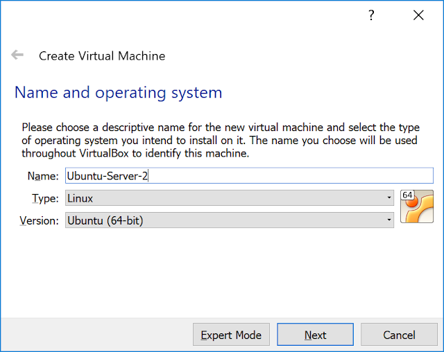 Setting name and operating system.