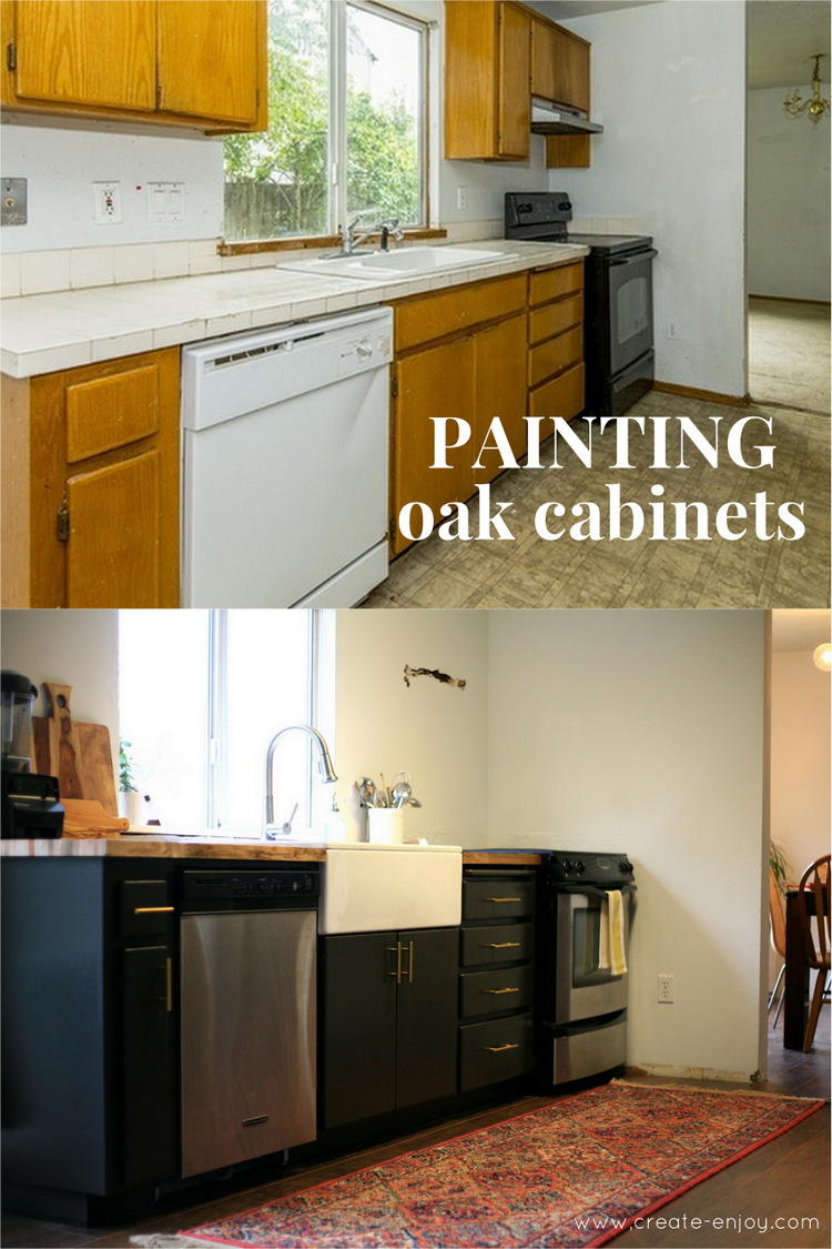 1 05 2017 kitchen makeover  painting oak cabinets  step by step   and new      rh   create enjoy com