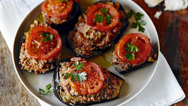 Stuffed Eggplant With Lamb Or Beef (Karniyarik) Recipe
