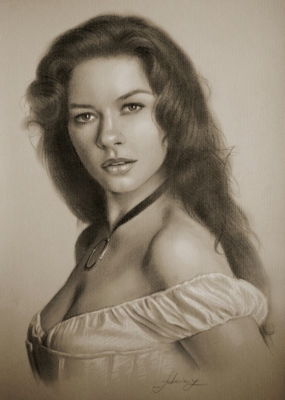 17-Catherine-Zeta-Jones-krzysztof20d-2b-and-8b-Pencils-Clear-Pastel-Celebrity-Drawings-www-designstack-co