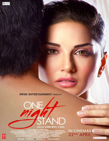 Poster Of One Night Stand 2016 Hindi 300MB DVDScr 480p Watch Online Free Download Worldfree4u
