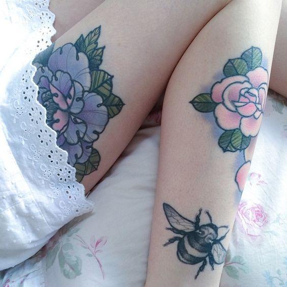 Sexy Floral Feminine Tattoos