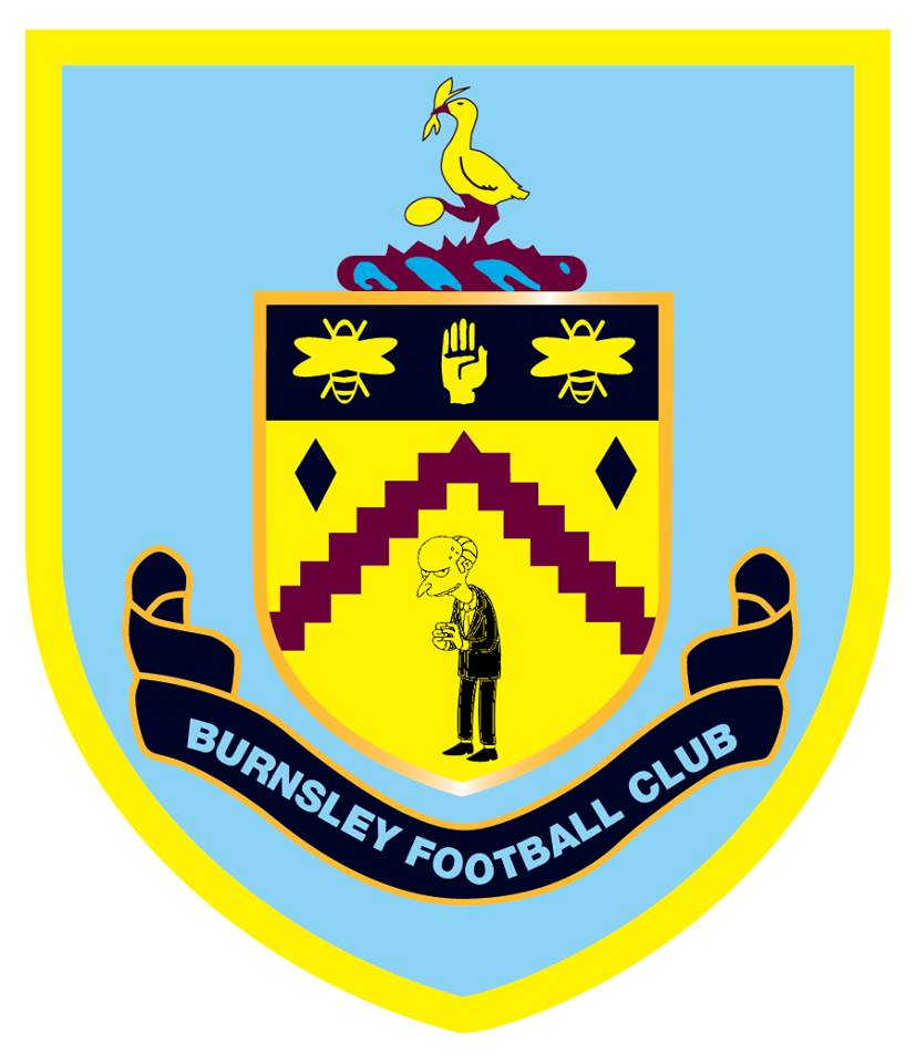 The Simpsons' version logo of Burnley
