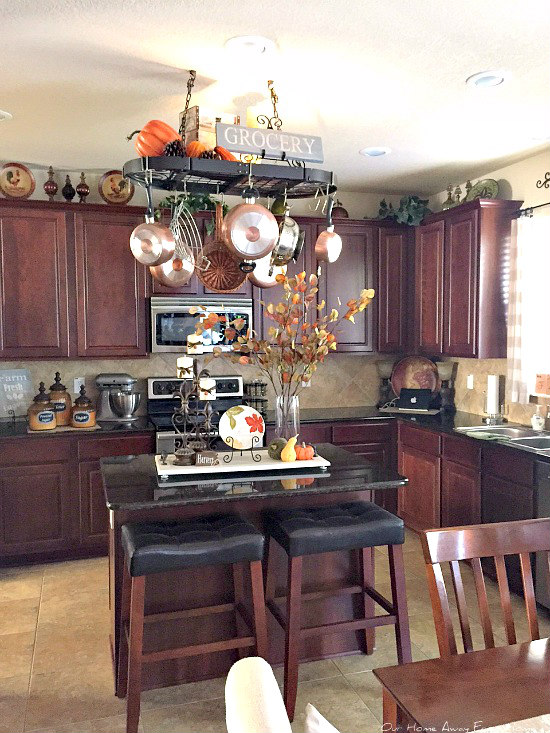Adventures In Decorating Our 2015 Fall Kitchen: Our Home Away From Home: OUR SIMPLE FALL KITCHEN
