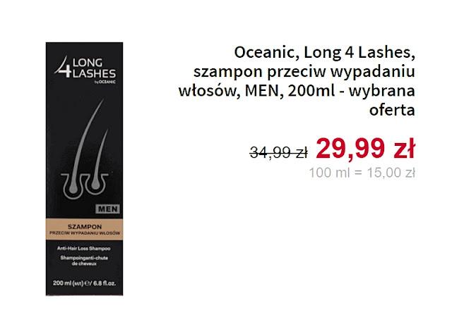 Long 4 Lashes, szampon przeciw wypadaniu włosów, MEN